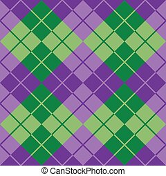 Argyle in Purple and Green