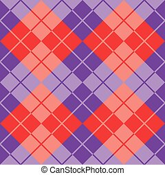 Argyle in Purple and Red