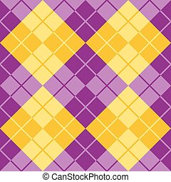 Argyle in Purple and Yellow