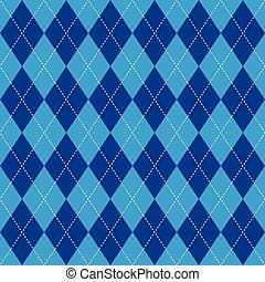 Argyle pattern blue rhombus seamless texture - Argyle basic...
