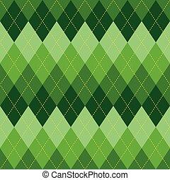 Argyle pattern green rhombus seamless texture - Argyle basic...