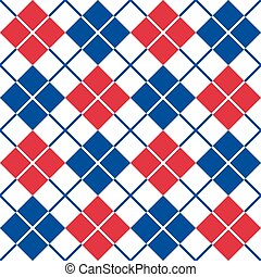 Argyle Pattern in Red-White-Blue