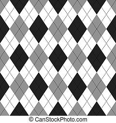 Argyle pattern - Seamless illustrated argyle pattern in...