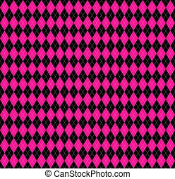 Argyle plaid in plastic pink colors