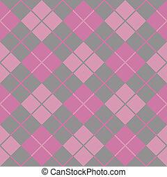 argyle, rózsaszínű, seamless, háttér