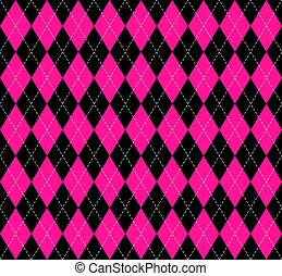 argyle, xadrez, em, plástico, cor-de-rosa, cores