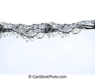 aria, bolle, in, acqua