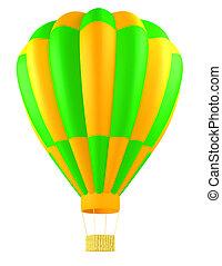 aria calda, isolato, balloon