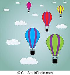 aria, palloni, in, il, cielo