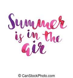 aria, primavera, mano, ispirazione, disegnato, quote.