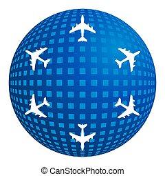 aria, volo, viaggiare