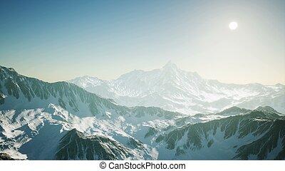 Arial Alpine Alps Mountain Landscape