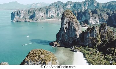 Arial view of beautiful Railay Beach in Thailand - Beautiful...