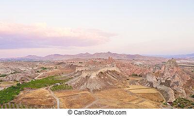 Arial view of Cappadocia.