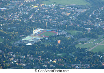 Arial View Of London - OLYMPIC CITY, LONDON - AUG 3 : An...
