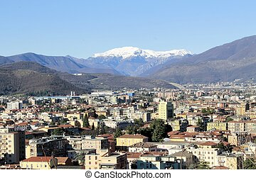 arial view of Brescia in Italy