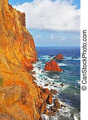 Arid island of Madeira