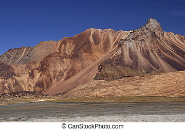 arido, montagne, di, ladakh
