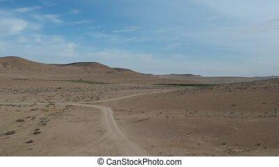 ariel, aanzicht, van, de, negev woestijn, in, israël