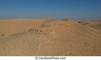 ariel, aanzicht, van, negev woestijn