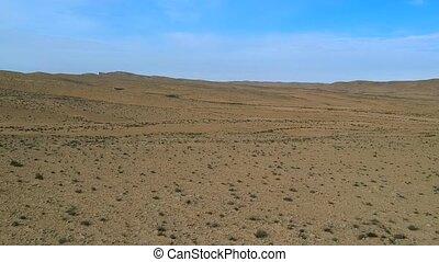ariel, aanzicht, van, woestijn, terrein, in, de, negev, van, israël