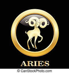 Aries. Astrology sign. Vector zodiac icon. Vector...