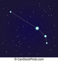 aries constellation - constellation of aries on night starry...