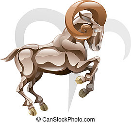 Aries the ram star sign - Illustration representing Aries...