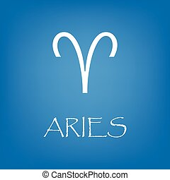 Aries zodiac sign icon vector simple