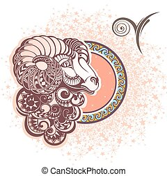 Aries. Zodiac sign - Zodiac symbol for your design