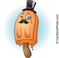 Aristocrat Popsicle Character - A proper popsicle gentleman....