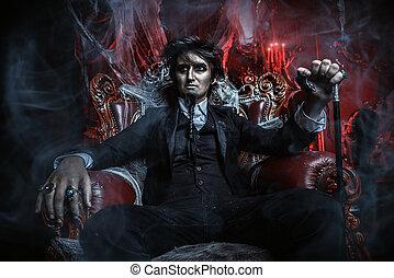 aristocrat vampire man