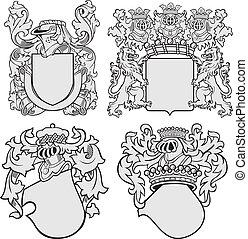 aristocratico, set, emblemi, no11