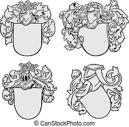 aristocratico, set, emblemi, no2