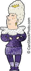 aristocratique, femme, dessin animé