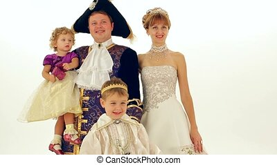 Aristocrats - Family dressed as aristocrats of the 18th...