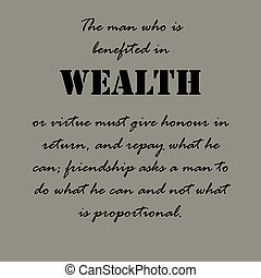 Aristotle Quotes. The man who is benefited ... - The man who...