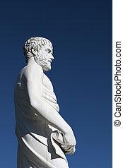 Aristotle statue in Greece