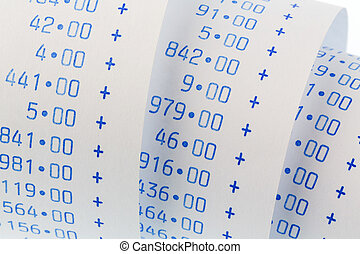 arithmetic strip of calculator - the computational stripes...