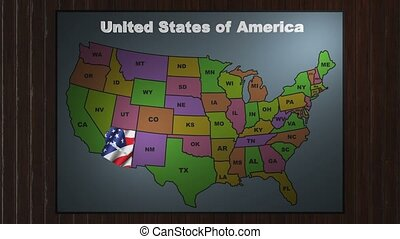 Arizoma pull out from USA states abbreviations map