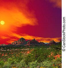 arizona , ηλιοβασίλεμα , sedona