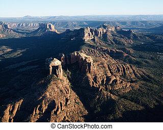 arizona., 岩, 赤