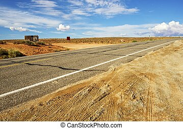 Arizona Backcountry Highway. Dry Arizona Landscape. Arizona ...