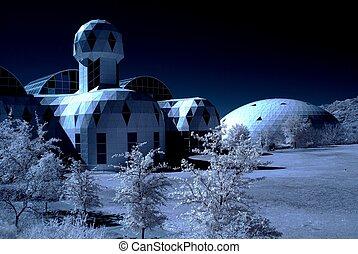 Arizona Biosphere - Monochrome presentation of the biosphere...