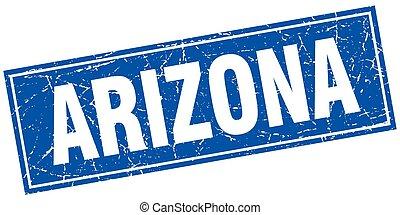 Arizona blue square grunge vintage isolated stamp