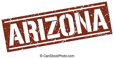 Arizona brown square stamp