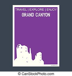 arizona canhão principal, estados unidos, monumento, marco,...