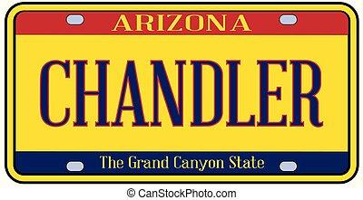 Arizona Chandler State License Plate - Chandler Arizona...
