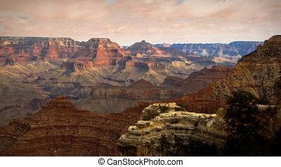arizona, chmury, timelapse, kanion, (1133), zachód słońca, burza, wielki, krajobraz