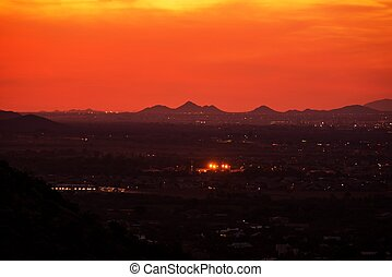 arizona, coucher soleil